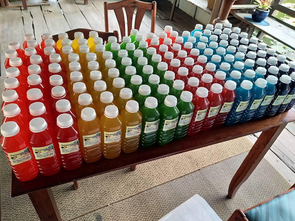 น้ำหมักชีวภาพสีสดใส